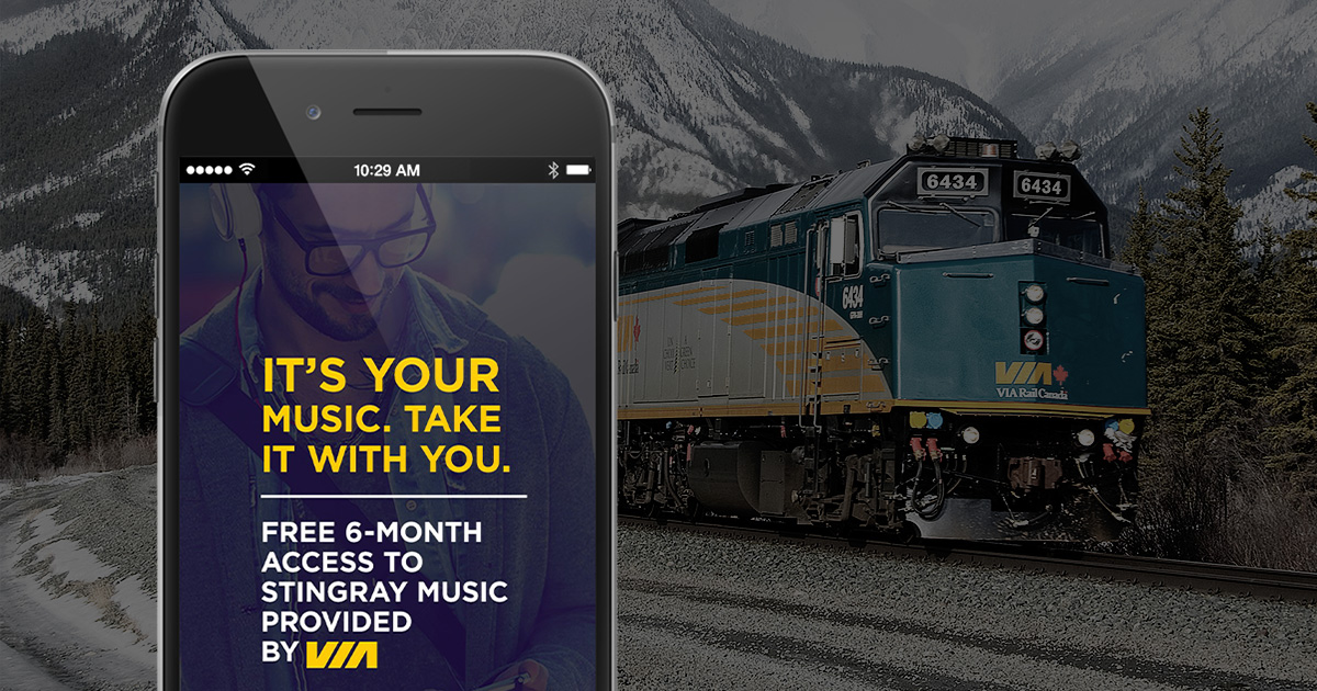 VIA Rail Chooses Stingray as Music Partner