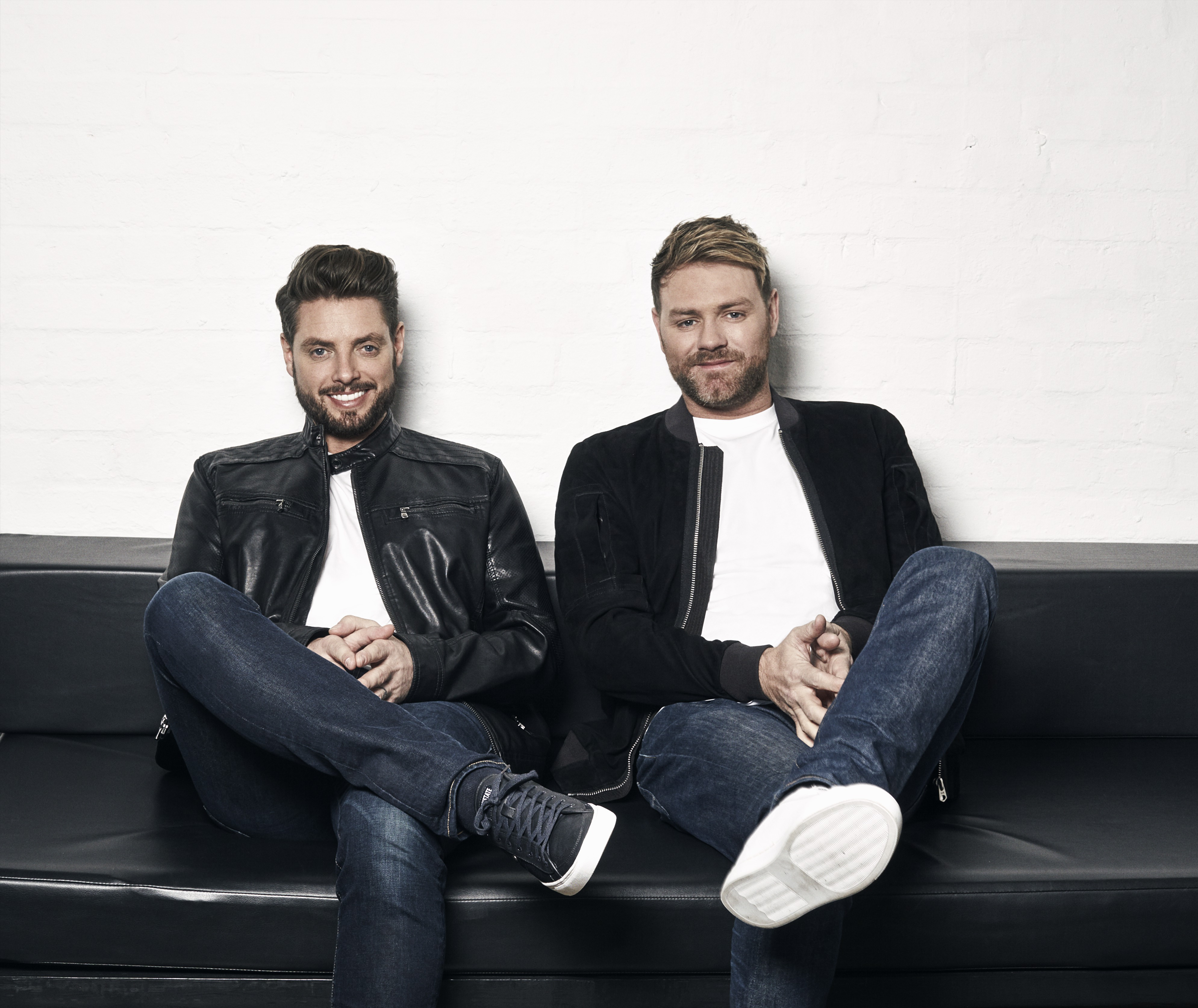 BOYZLIFE FT. LEFT - KEITH DUFFY (BOYZONE) & RIGHT BRIAN MCFADDEN (WESTLIFE)