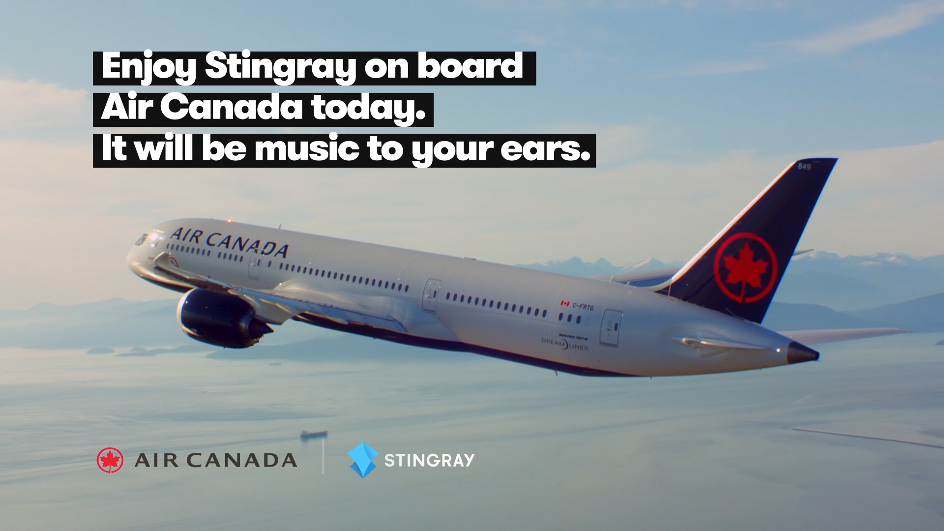 Stingray partners with Air Canada on its Award-Winning In