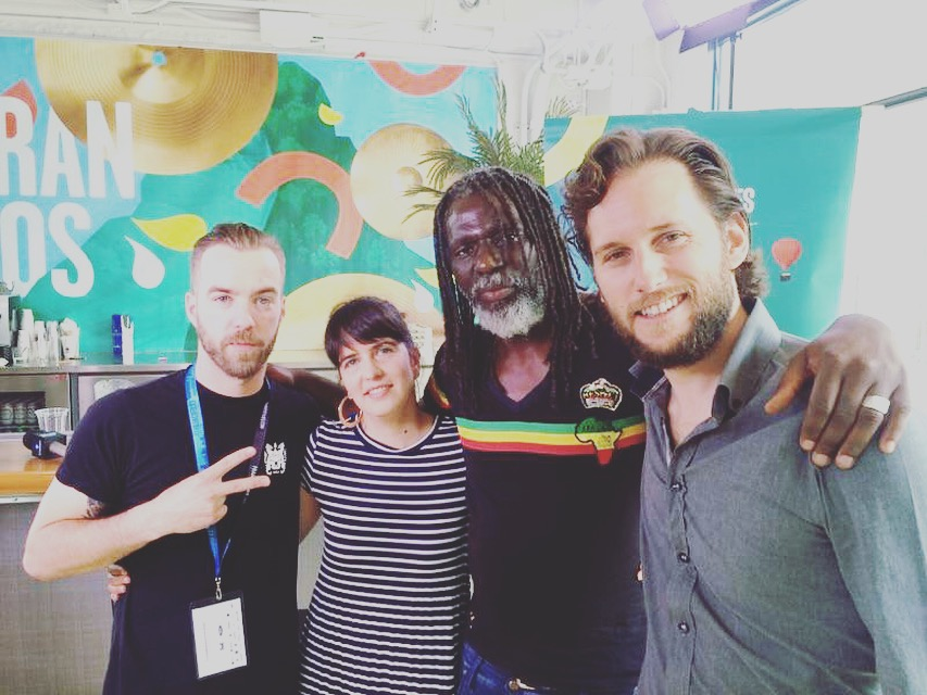 The Stingray Team with Tiken Jah Fakoly