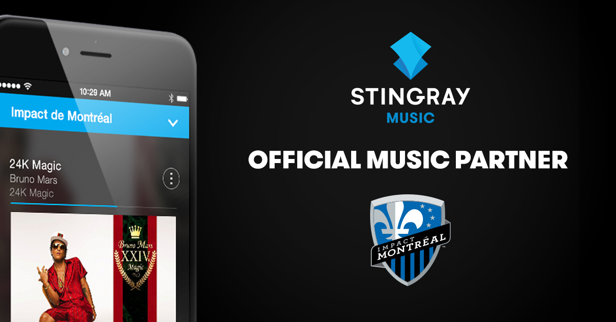 Stingray Music - Official Music Partner of L'Impact